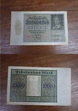 Billet Reichbanknote 10000 Mark Zehntausend BERLIN 1922 GERMANY DEUTSCHLAND (3)