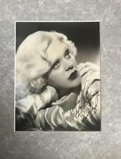 Alice Faye- Signed Terrific Photograph Matted
