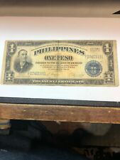 One Peso 1922 Philippines Victory Silver Series 66 Banknote ( SAME AS PICTURE )