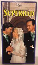 Disney Presents Superdad 1973 VHS comedy Bob Crane Kurt Russell beach girls RARE