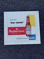 Vintage Budweiser Junior Sign King Of Beers 13.5x12.5