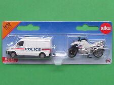 Euro Siku Super Serie 1655 Polizei-Set Frankreich MB Sprinter + BMW Motorrad