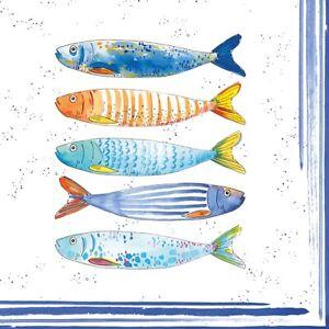 Servietten 20, Serviettentechnik Bord de Mer Fisch, Easy Life 33 x 33