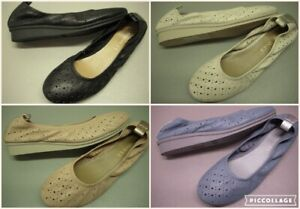 Aerosoles Wooster Leather Perforated Low Wedge Heel Ballet Flats - Women's Shoes