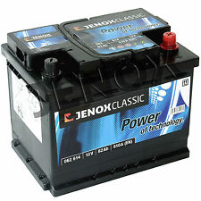 Jenox Classic 12V 62Ah 470 A/EN Starterbatterie-Autobatterie ersetzt 60Ah 70Ah