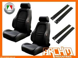AUTOTECNICA ADVENTURER 4WD SEAT CLOTH BLACK RA RODEO 2003-2007 ADAPTOR PAIR