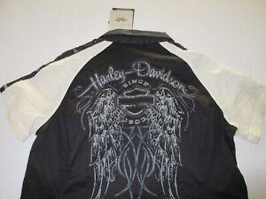 Women's Harley Davidson Lace Button Shirt Size Large **NEW**