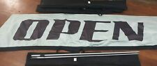 Lot of 4 Open Sign 13 Foot Falcon Feather Flutter Flags Banners w Hardware Cases
