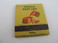 Vintage Matchbook: 1963 Hunt's Tomato Sauce Perfect Meat Loaf Recipe