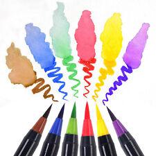 20 Color Calligraphy Soft Brush Pens Watercolor Manga Art Drawing Painting Pens