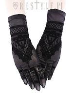 Restyle Henna Gothic Emo Punk Rock Spooky Mesh Mehndi Pattern Alchemy Gloves