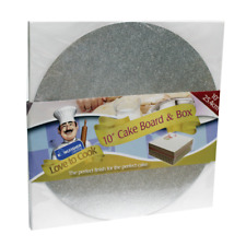 "10"" Inch Round Silver Cake Board and box"