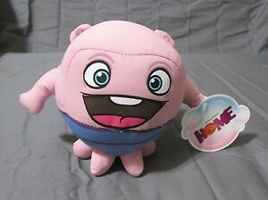 """New 6"""" Dreamworks Home Movie Toy Factory Oh Boov Light Pink Plush Alien Monster"""