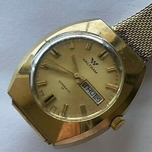 Vintage Waltham Automatic Swiss double quickset day/date mens watch, cal FHF 909