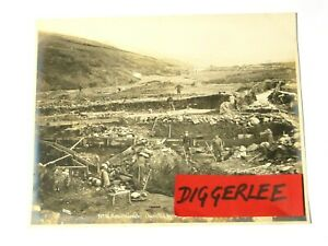 """1904 Anvil Creek No.6 Pioneer Mining Co NOME Nowell Sepia Photograph 10x8"""" #1093"""
