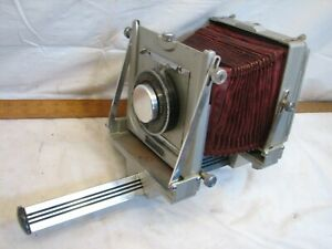 Vitnage Graflex Graphic View 4X5 Film Monorail Camera Red Bellows Needs Love