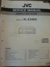 JVC XL-E34BK Compact Disc Player Service Manual