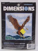 """New DIMENSIONS HEROIC EAGLE Bald Eagle Bird COUNTED CROSS STITCH KIT 5""""x 5"""" 7175"""