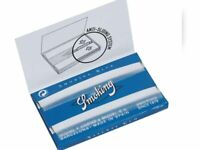 Papel Smoking azul ,blue,  Doble ventana  ,10 libritos. 1200 hojitas