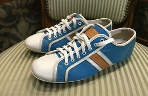 Authentic Louis Vuitton women's leather fabric sneakers size 37