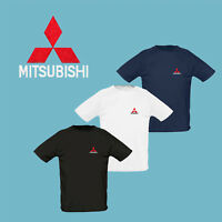 Mitsubishi T Shirt EMBROIDERED Auto Car Logo Tee Mens Clothing Accessories Gift