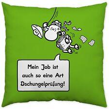 Sheepworld 45159 Kissen Baumwollkissen 40 x 40 cm Job/ Dschungelprüfung