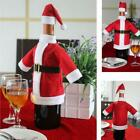 Red Santa Wine Bottle Set Cover Bag Christmas Dinner Party Xmas Table Decor S