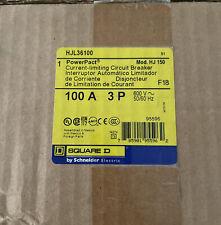 Square D Hjl36100, 100 Amp 3 Pole 600 Volt Circuit Breaker- New