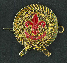 SCOUTS OF SINGAPORE - SCOUT COMMISSIONER / LEADER / MEMBER METAL HAT PATCH