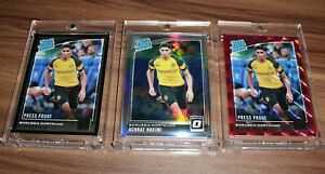 2018-19 Donruss Achraf Hakimi Rookie RC Lot Red Silver Press Proof Holo SSP📈🔥