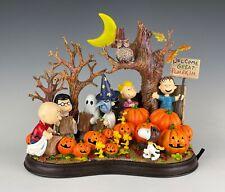 Danbury Mint Peanuts Welcome Great Pumpkin Lighted Sculpture **FLAWED**