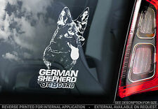 German Shepherd - Car Window Sticker - Black Coat Dog on Board Sign Gift - TYP2