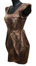 BNWT River Island Animal Leopard Print  Dress Size 8 UK Tulip Lined