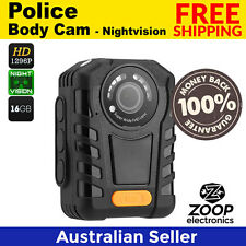 Police Body Camera - Night Vision, 1296p Resolution, 140 Degree Angle Lens, IP65
