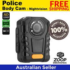 Police Body Camera - Night Vision, 1296p Resolution, 140 Degree Angle Lens, IP65