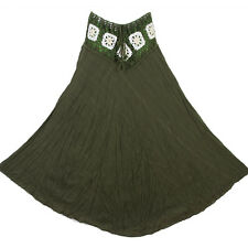 Bohemian Crochet Cotton Skirt Boho Hippy Hippie Gypsy Green XS-XL sk168t1