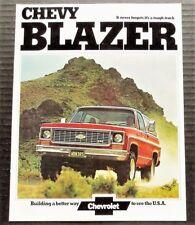 "ORIGINAL 1974 CHEVROLET K5 BLAZER SALES BROCHURE ~ 8 PAGES ~ 8.5"" BY 11"" ~ BL74"