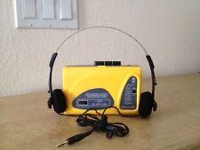 AM/FM  RADIO  WITH  STEREO  HEADPHONE/SUNTONE BRAND/CLEAR CRESTAL SOUND / YELLOW