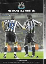 Football Programme>NEWCASTLE UNITED v SOUTHAMPTON Oct 2003