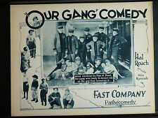 1924 OUR GANG LOBBY CARD IN EXC. COND. - RARE EARLY SILENT LITTLE RASCALS ROACH