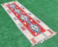 Turkish Rug 29''x92'&# 039; Oriental Vintage Runner Kilim Corridor Kilim Hallway Rug