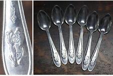 Summer Moscow Olympics 1980 set of 6 Aluminum Teaspoons Misha