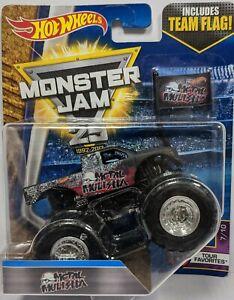 Hot Wheels MONSTER JAM 25th Metal Mulisha team flag #429b