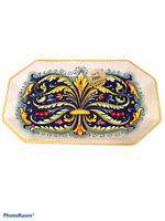 NEW Nova Deruta Made In Italy Serving Tray Platter ceramic pottery dish plate !!