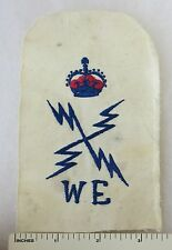 ORIGINAL Post WW2 Vintage BRITISH ROYAL NAVY ELECTRICAL PETTY OFFICER WE PATCH