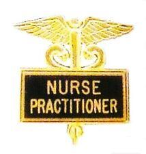 Nurse Practitioner Pin Framed Medical Black Inlaid Caduceus Graduation 3517B New