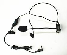 Ultralight Headset with Boom Microphone PTT/VOX for Kenwood Radio