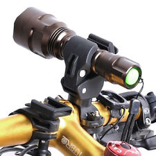 360° Rotation Cycling Bike Mount Holder Bracket for Flashlight Torch Clips Clamp