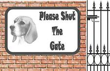 Beagle Shut the Tor Beware of the Dog Design Metall Türschild