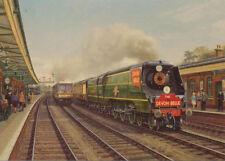 Merchant Navy Devon Belle Southern Railway Engine Steam Train Birthday Card